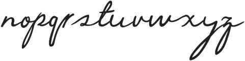 Gently Script otf (400) Font LOWERCASE