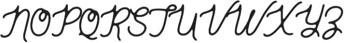 Genuine Script otf (400) Font UPPERCASE