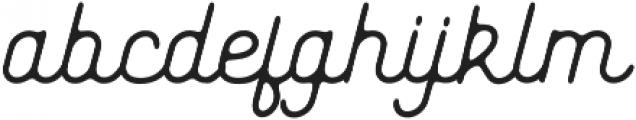 Genuine Script otf (400) Font LOWERCASE