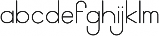 Geo Regular otf (400) Font LOWERCASE