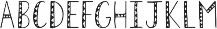 Geo Tribal Regular otf (400) Font UPPERCASE