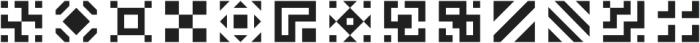 Geoblocks Shapes One otf (400) Font UPPERCASE