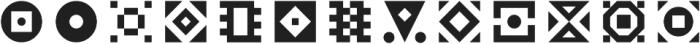 Geoblocks Shapes One otf (400) Font LOWERCASE