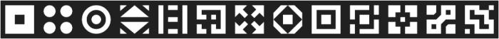 Geoblocks Shapes Two otf (400) Font UPPERCASE