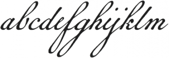 Geographica Script otf (400) Font LOWERCASE