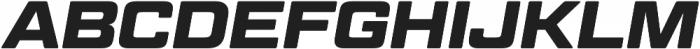 Geom Graphic Bold Italic otf (700) Font UPPERCASE