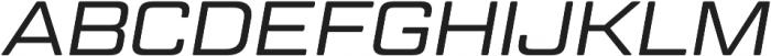 Geom Graphic Light Italic otf (300) Font UPPERCASE
