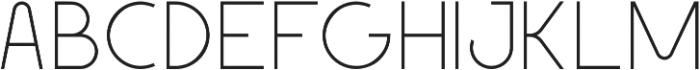 Geomaniac otf (200) Font UPPERCASE
