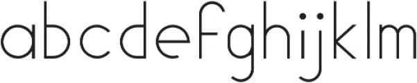 Geomaniac otf (200) Font LOWERCASE