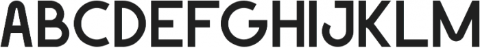 Geomaniac otf (700) Font UPPERCASE