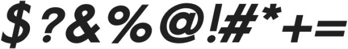 Geomatic Black Italic otf (900) Font OTHER CHARS