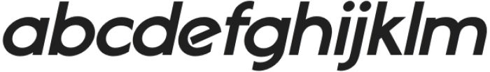 Geomatic Black Italic otf (900) Font LOWERCASE