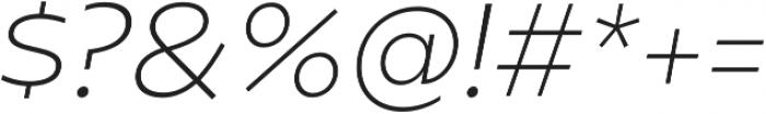 Geometrica ExtraLight It otf (200) Font OTHER CHARS