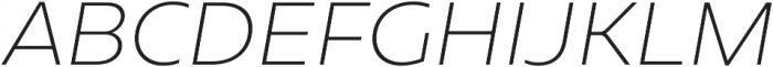 Geometrica ExtraLight It otf (200) Font UPPERCASE