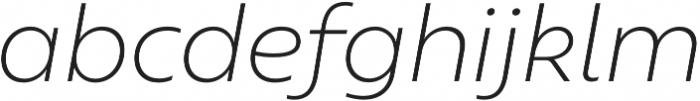 Geometrica ExtraLight It otf (200) Font LOWERCASE
