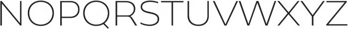 Geometrica ExtraLight otf (200) Font UPPERCASE