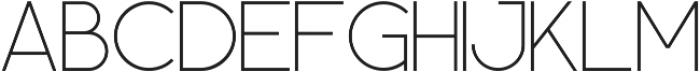 Geometrica Sans ttf (100) Font UPPERCASE