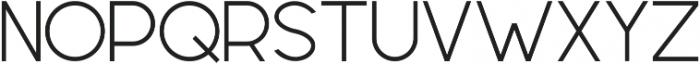 Geometrica Sans ttf (300) Font UPPERCASE