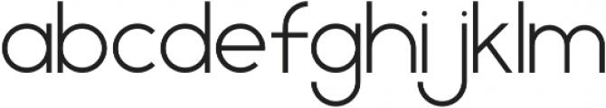 Geometrica Sans ttf (300) Font LOWERCASE