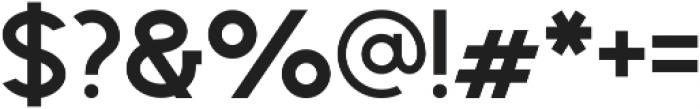 Geometrica Sans ttf (700) Font OTHER CHARS