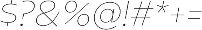 Geometrica Thin It otf (100) Font OTHER CHARS