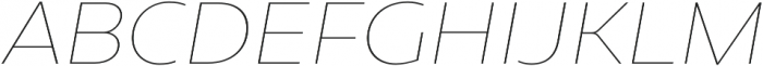Geometrica Thin It otf (100) Font UPPERCASE