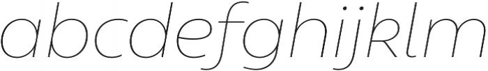 Geometrica Thin It otf (100) Font LOWERCASE