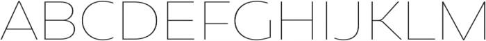 Geometrica Thin otf (100) Font UPPERCASE