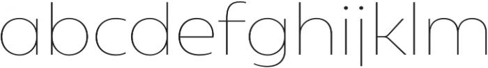 Geometrica Thin otf (100) Font LOWERCASE