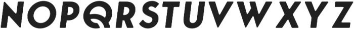 George Round Bold Italic otf (700) Font UPPERCASE