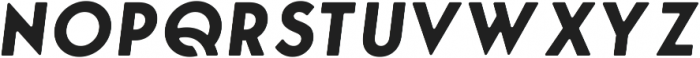 George Round Bold Italic ttf (700) Font UPPERCASE