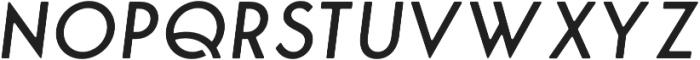 George Round Italic otf (400) Font UPPERCASE