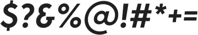 George SemiBold Italic otf (600) Font OTHER CHARS