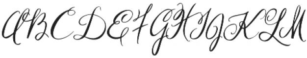 Georgette otf (400) Font UPPERCASE