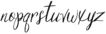 Georgette otf (400) Font LOWERCASE