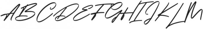 Georgiess Signature otf (400) Font UPPERCASE