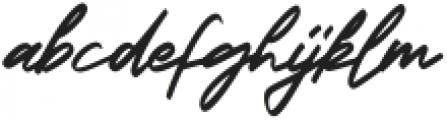 Georgiess Signature otf (400) Font LOWERCASE