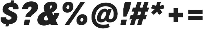 Geovetica SQ Black Italic otf (900) Font OTHER CHARS