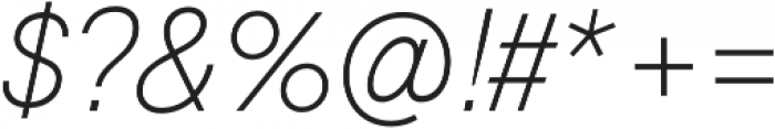 Geovetica SQ Extra Light Italic otf (200) Font OTHER CHARS