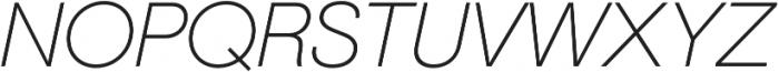 Geovetica SQ Extra Light Italic otf (200) Font UPPERCASE
