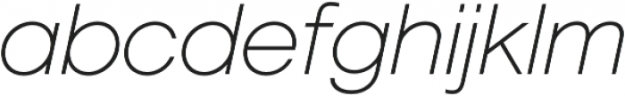 Geovetica SQ Extra Light Italic otf (200) Font LOWERCASE