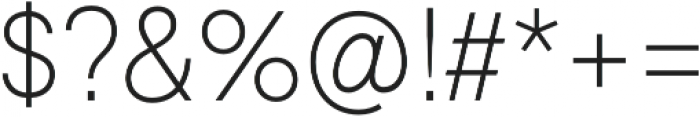 Geovetica SQ Extra Light otf (200) Font OTHER CHARS
