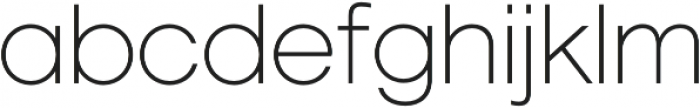 Geovetica SQ Extra Light otf (200) Font LOWERCASE