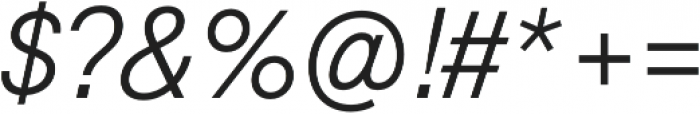 Geovetica SQ Light Italic otf (300) Font OTHER CHARS