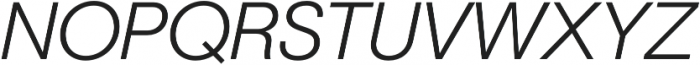 Geovetica SQ Light Italic otf (300) Font UPPERCASE