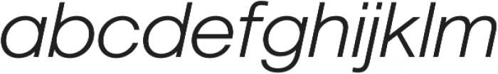 Geovetica SQ Light Italic otf (300) Font LOWERCASE