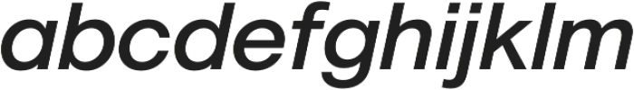 Geovetica SQ Medium Italic otf (500) Font LOWERCASE