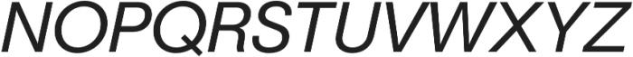 Geovetica SQ Regular Italic otf (400) Font UPPERCASE
