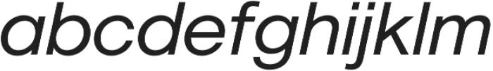 Geovetica SQ Regular Italic otf (400) Font LOWERCASE