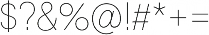 Geovetica SQ Thin otf (100) Font OTHER CHARS